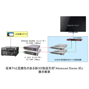 New 3D Broadcast System  that is compatible with conventional 2D television set.